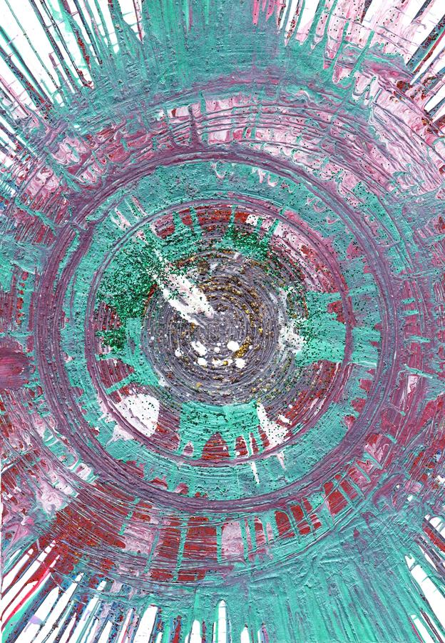 Stampa interna della pittura astratta del turchese fotografie stock