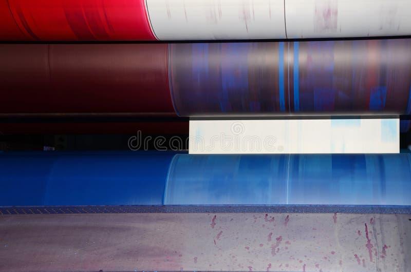 Stampa in offset di tendenza - particolare fotografia stock