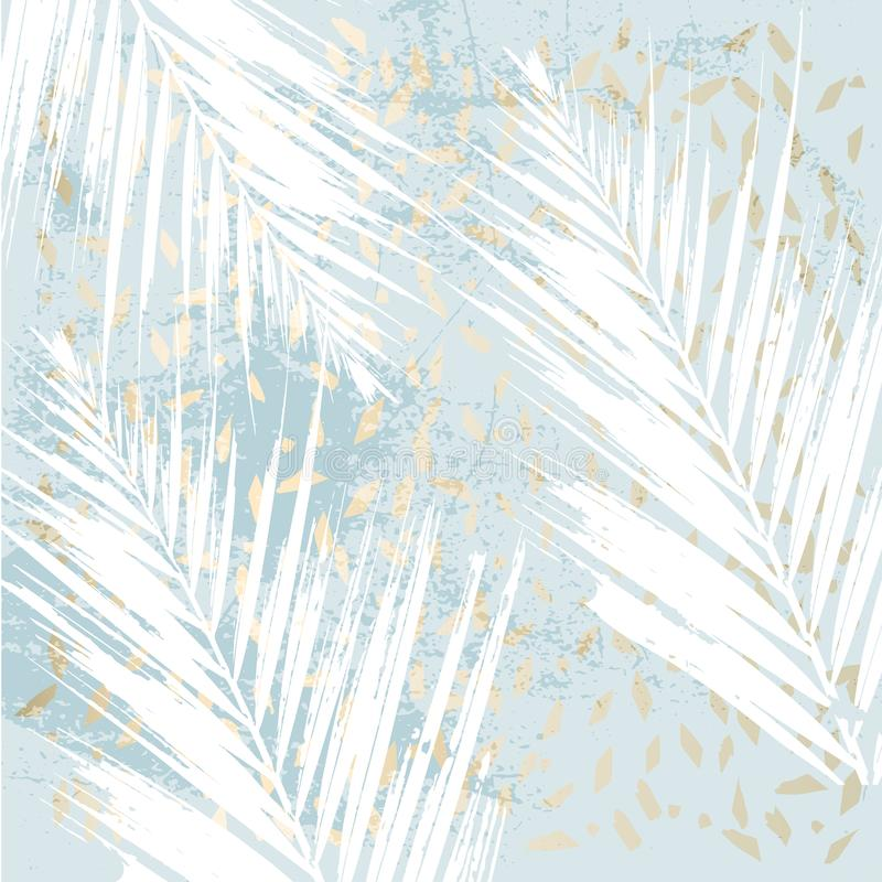 Stampa pastello dell'oro di inverno elegante royalty illustrazione gratis