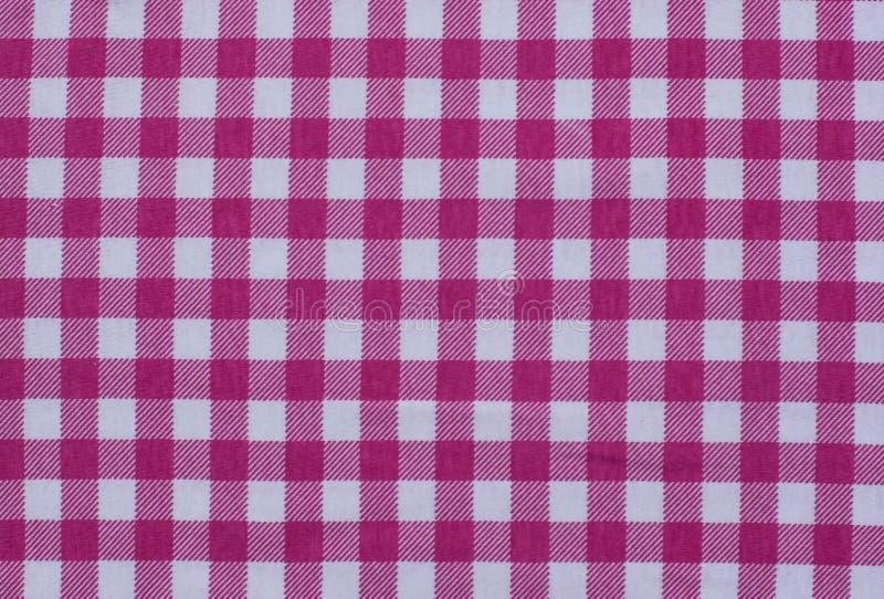 Stampa a quadretti quadrata del fondo del plaid della tovaglia della tovaglia di picnic retro del tessuto del percalle del forno  fotografia stock