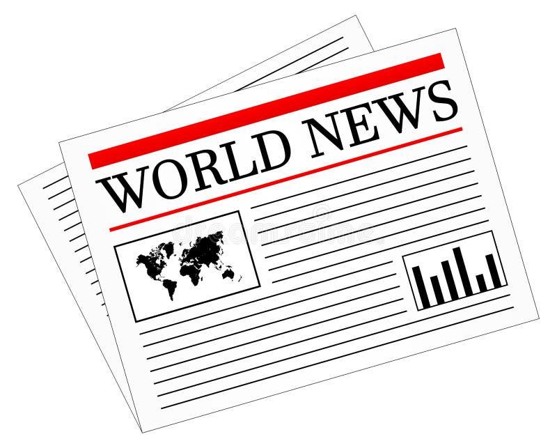 Stampa quotidiana del giornale di notizie royalty illustrazione gratis