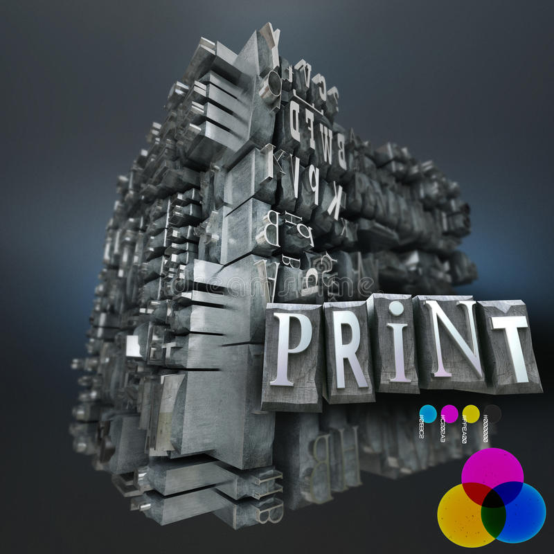 Stampa RGB illustrazione di stock