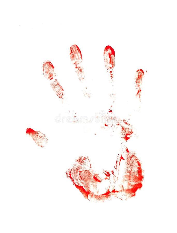 Stampa sanguinante illustrazione di stock