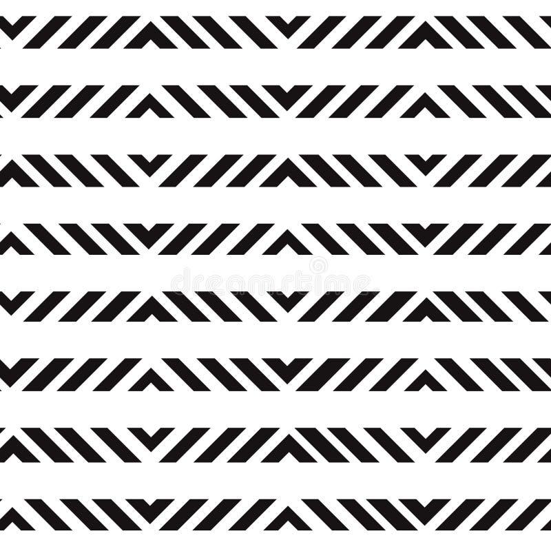 Stampa senza cuciture in bianco e nero geometrica semplice di vettore