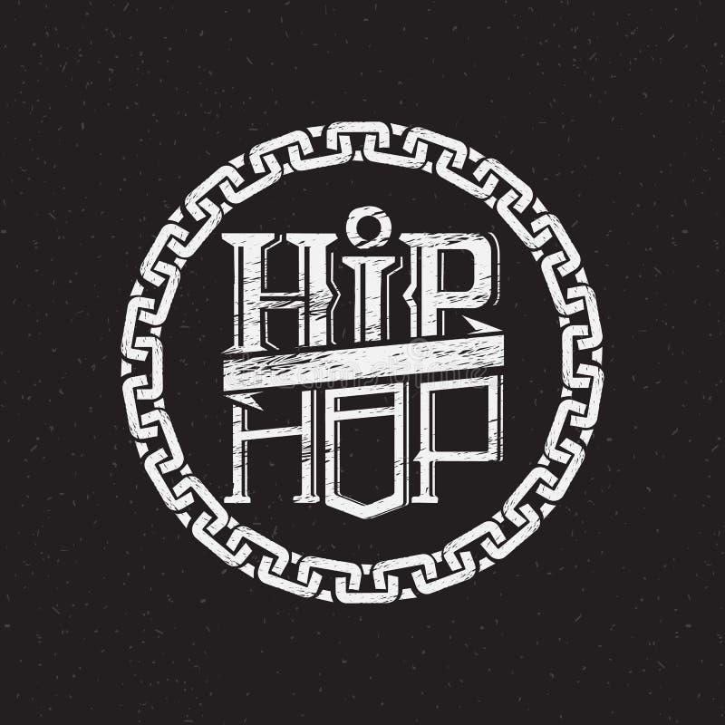 Stampa sulla camicia o sul manifesto di hip-hop royalty illustrazione gratis