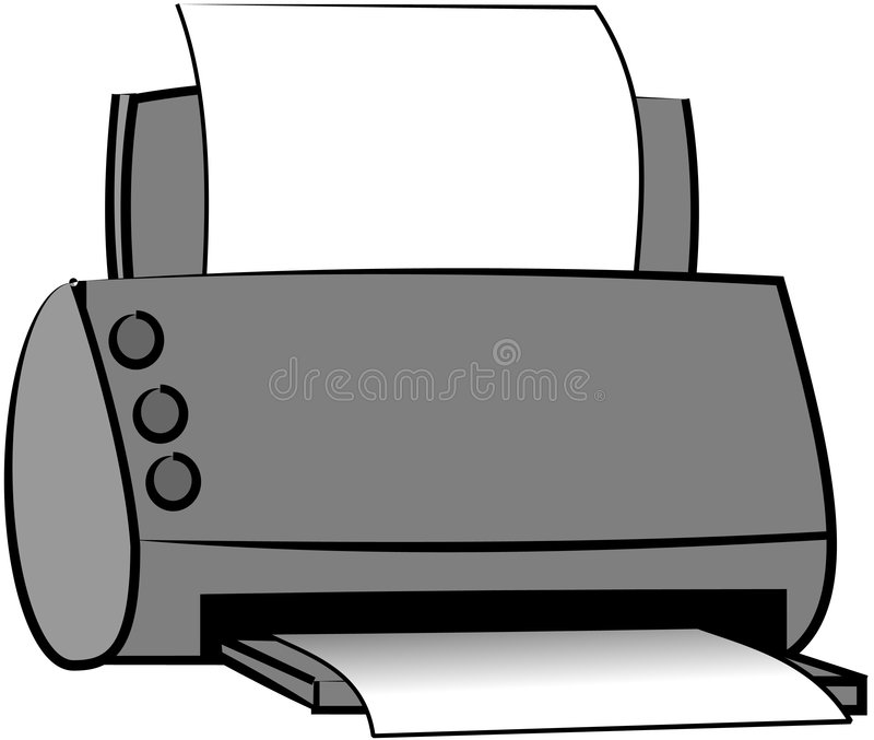 Stampante royalty illustrazione gratis