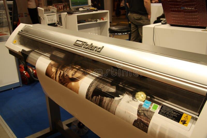Stampante di Digitahi di ampio formato - Roland fotografie stock libere da diritti