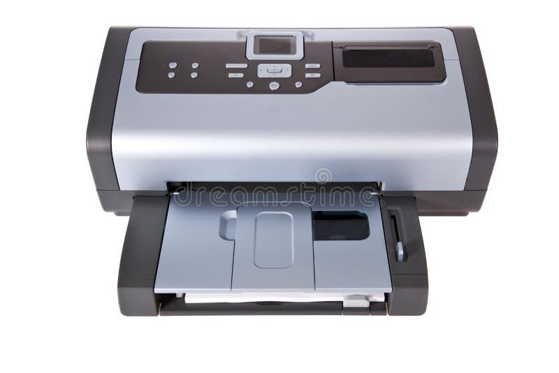 Stampante di getto di inchiostro isolata su bianco fotografie stock libere da diritti