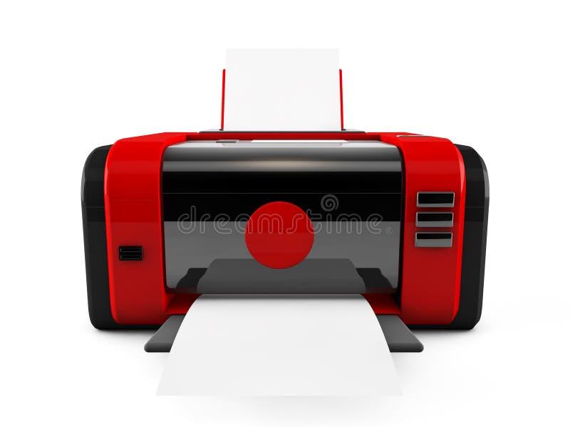 stampante di rosso 3d illustrazione di stock