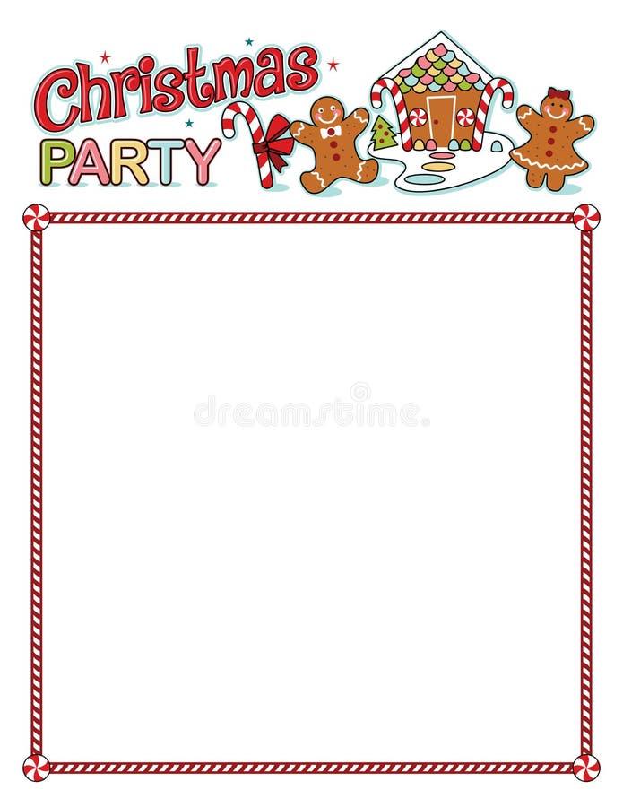 Stampato della festa di Natale con il confine royalty illustrazione gratis