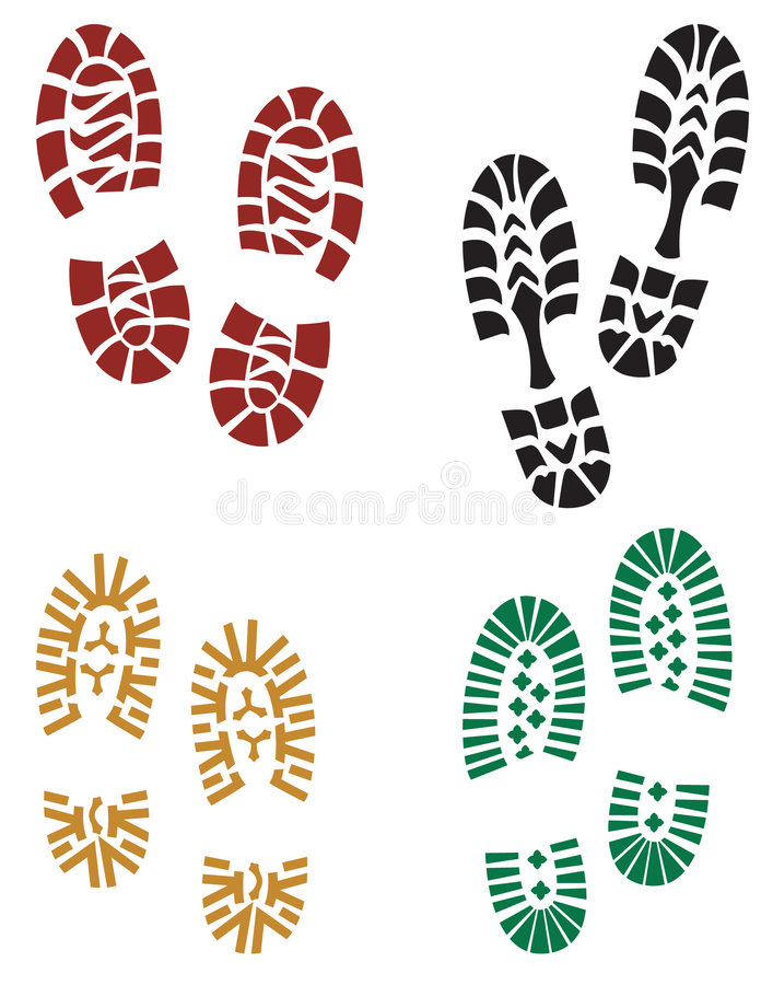 Stampe del piede royalty illustrazione gratis