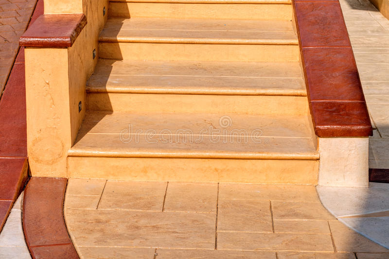 Stamped concrete stock images