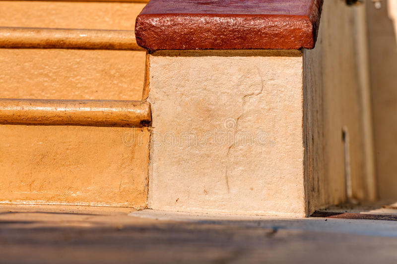 Stamped concrete royalty free stock image