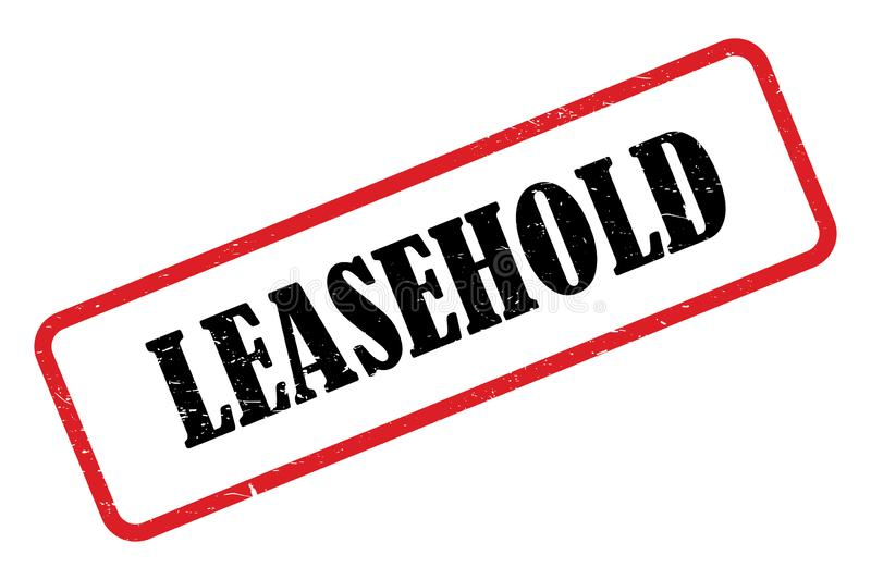 Leasehold heading. Stamped leasehold heading on white background vector illustration