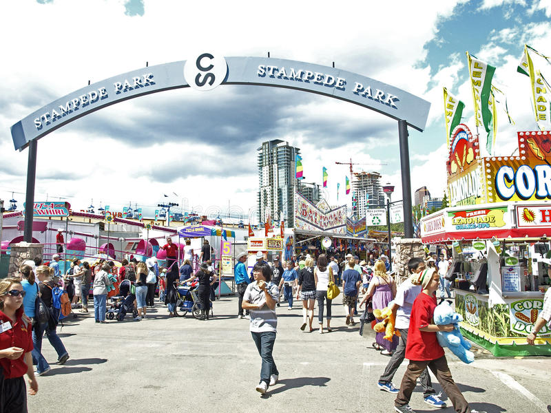 Download Stampede park midway. editorial stock image. Image of rises - 10261939