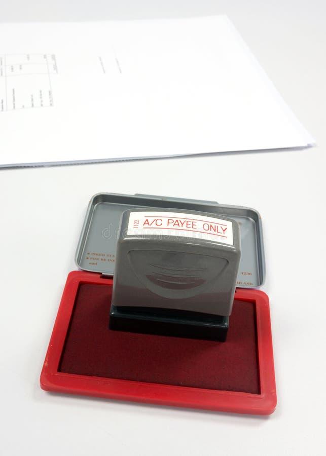 Stamper do beneficiário da conta somente fotos de stock