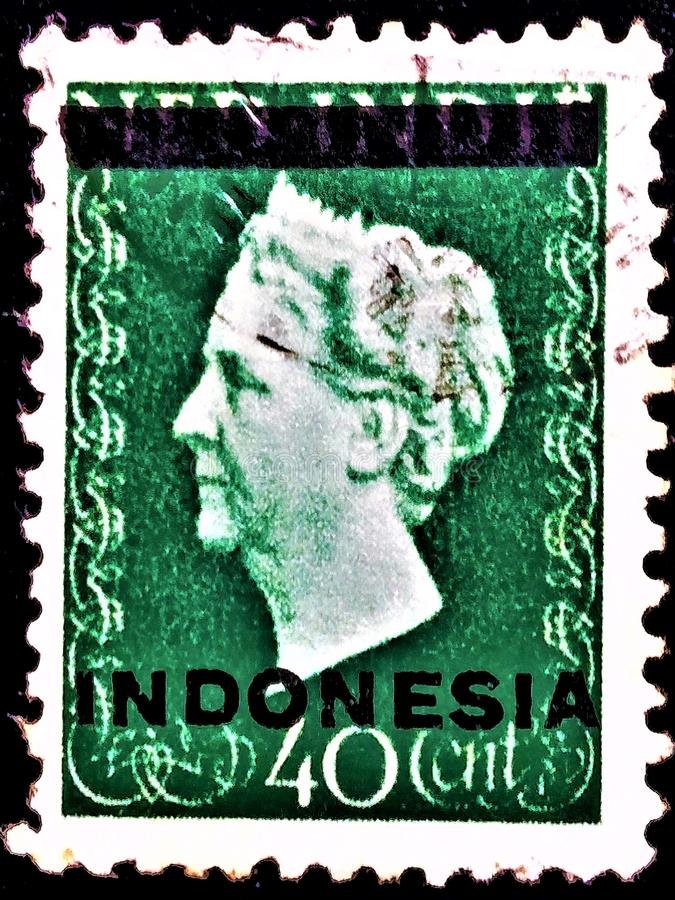 STAMPS OF INDONESIA ,NED INDIE OLD STAMPS royalty free stock photo