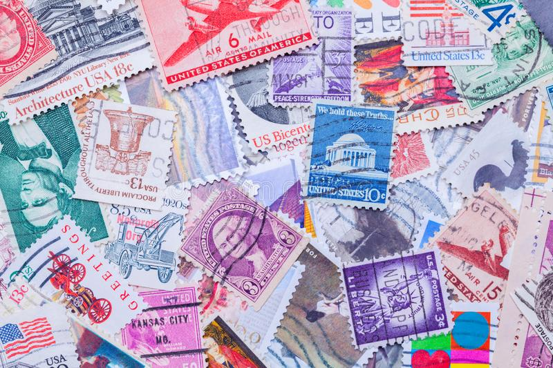 Stamps Pile royalty free stock photography