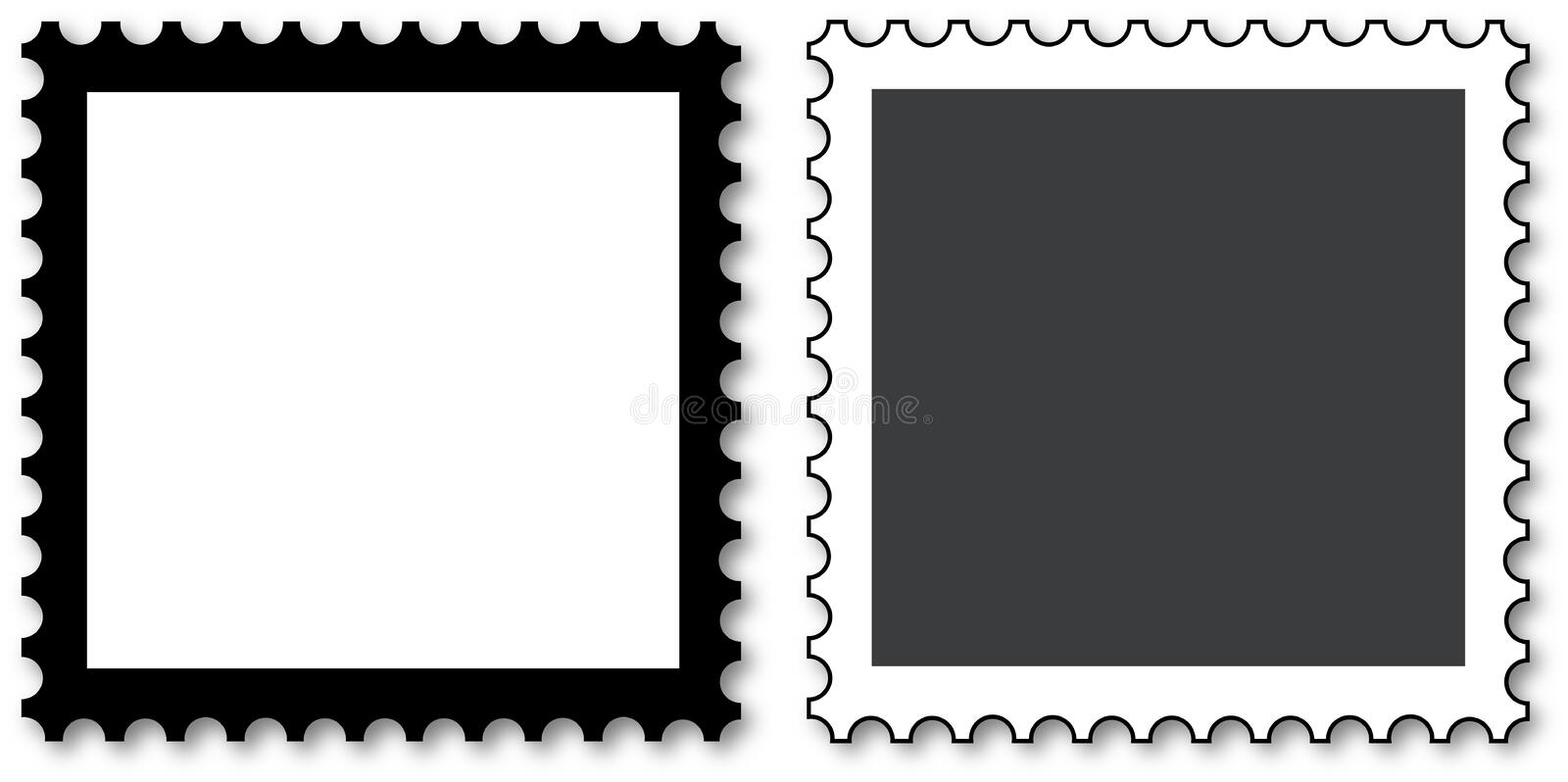 Stamps to fill stock illustration