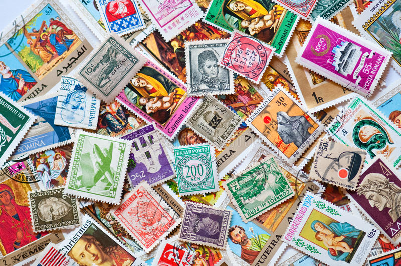 Stamps of the World stock photography