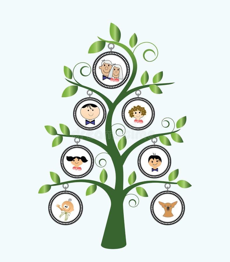 stamträd vektor illustrationer
