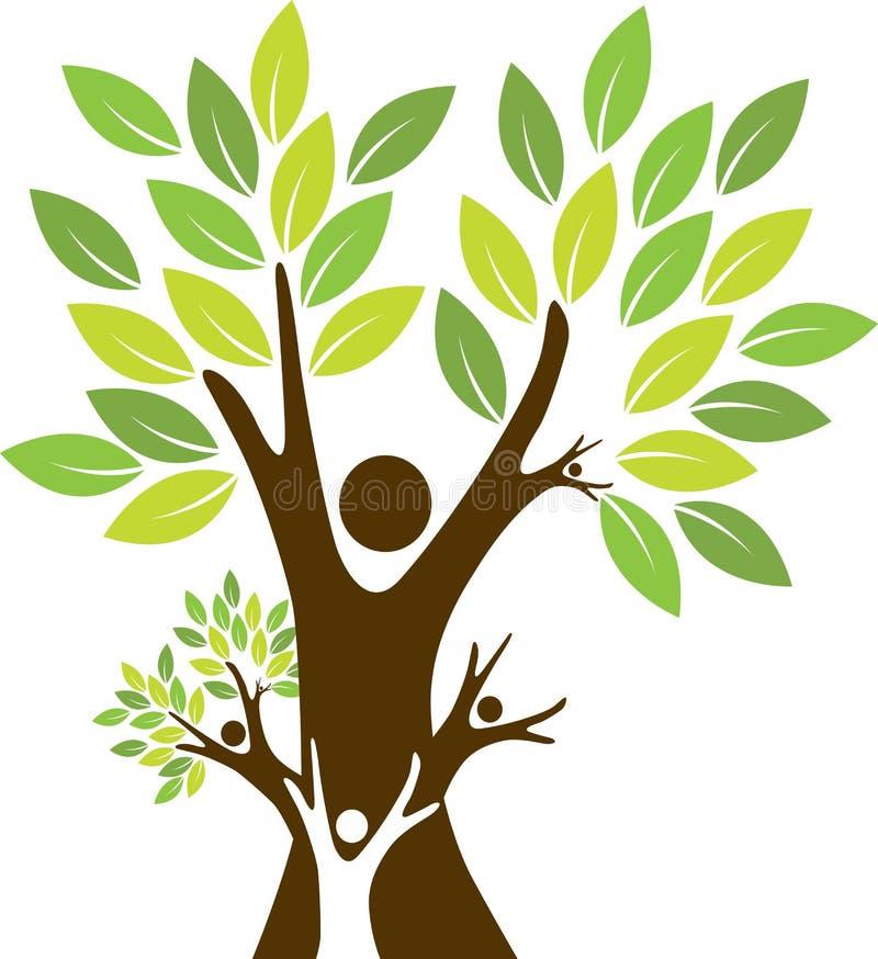 Stamträd royaltyfri illustrationer