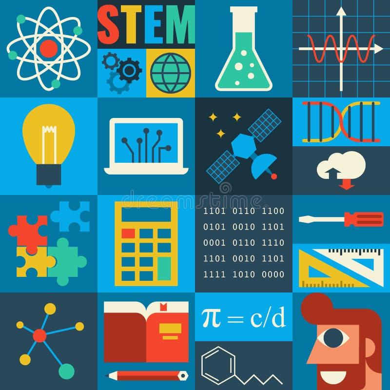 STAMutbildning vektor illustrationer