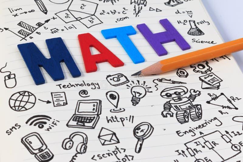 STAMutbildning Matematik för vetenskapsteknologiteknik arkivfoton
