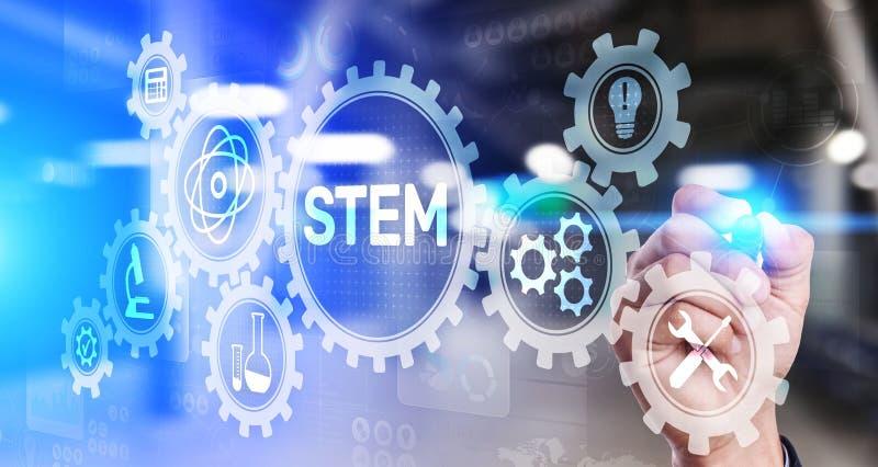 STAMwetenschap, technologie, techniek, en wiskunde als onderwijscategorie vector illustratie