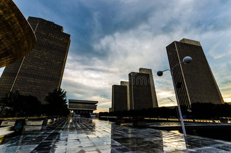 Stanów budynki Albany, NY zdjęcia stock