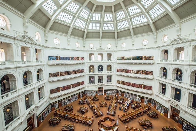 Stan biblioteka Wiktoria, Melbourne Australia zdjęcie stock