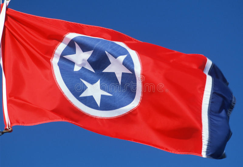 Stan flaga Tennessee zdjęcie royalty free