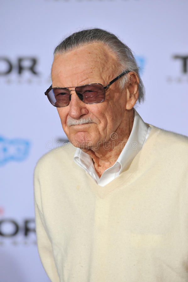 Stan Lee fotografia de stock royalty free