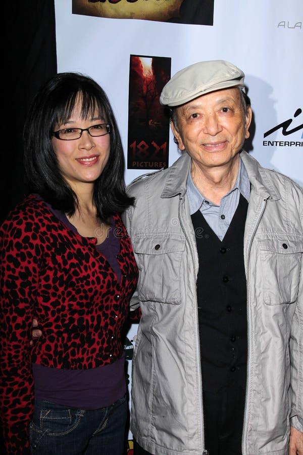 Stan Lee, James Hong immagini stock libere da diritti