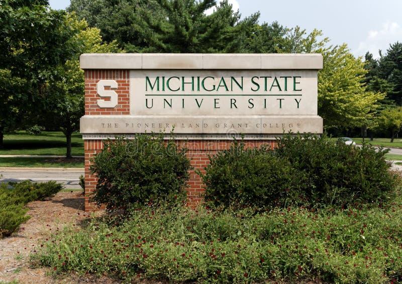 Stan Michigan uniwersytet zdjęcia royalty free
