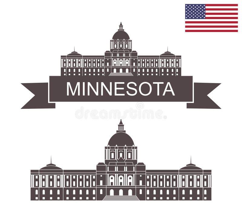 Stan Minnestoa Minnestoa stanu Capitol w St Paul royalty ilustracja