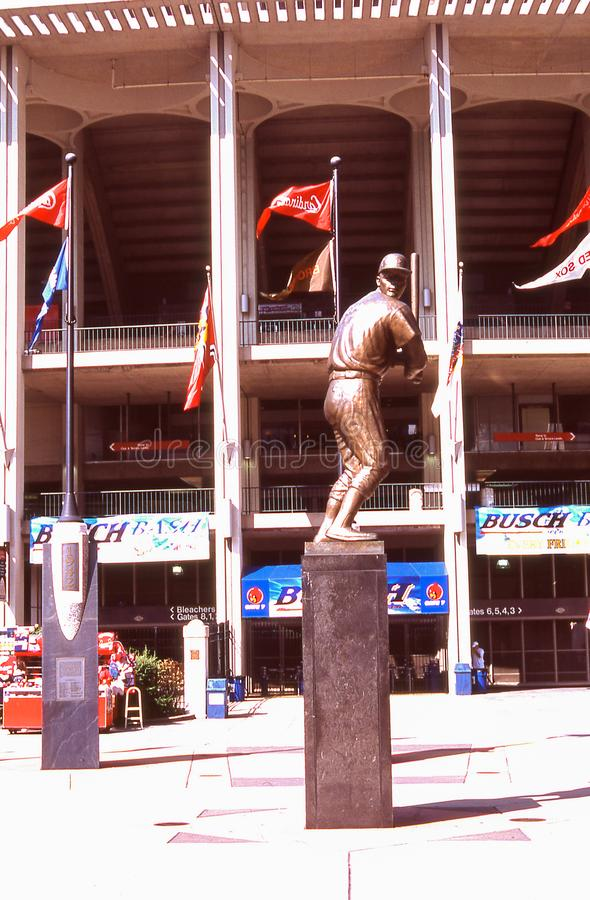 Stan Musial Statue at Old Busch Stadium, St. Louis, MO stock photography