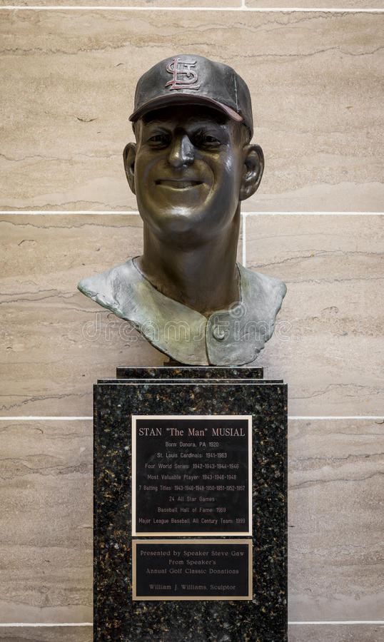 Stan Musial staty arkivfoton