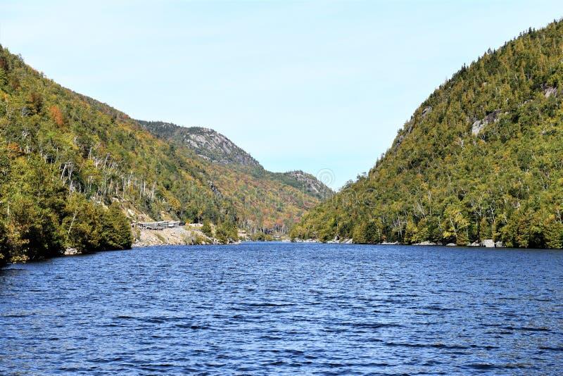 Stan Nowy Jork jezior Essex kaskadowy okręg administracyjny fotografia royalty free