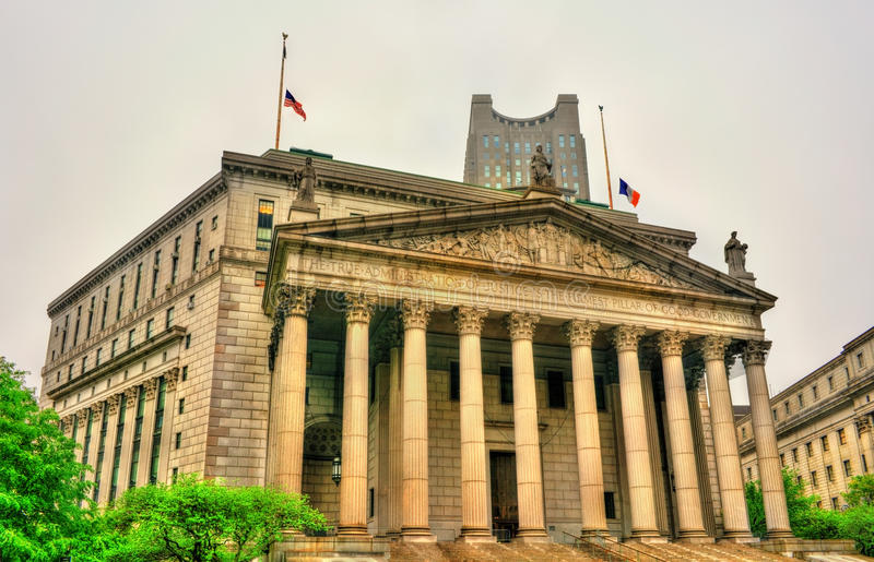 Stan Nowy Jork sądu najwyższy budynek zdjęcie royalty free