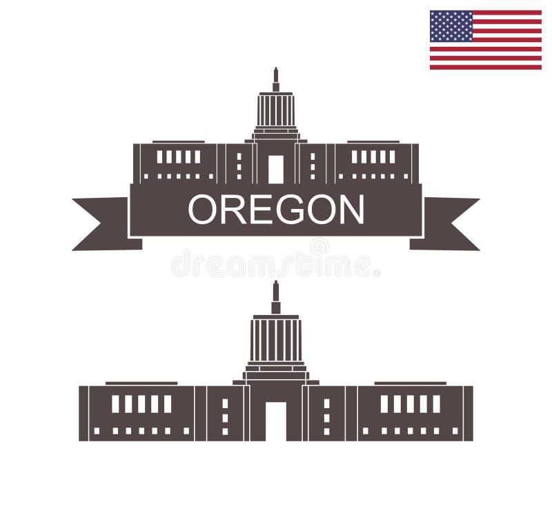 stan oregon Stanu Capitol budynek w Salem Oregon ilustracji
