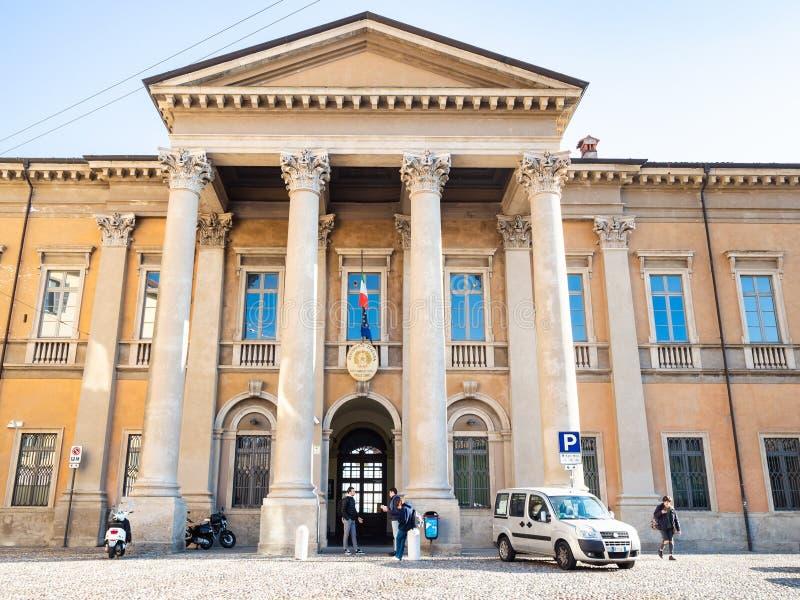 Stan szkoła średnia Paolo Sarpi w Bergamo mieście zdjęcie royalty free