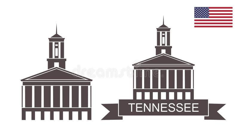 stan Tennessee Tennessee stanu Capitol, Nashville royalty ilustracja