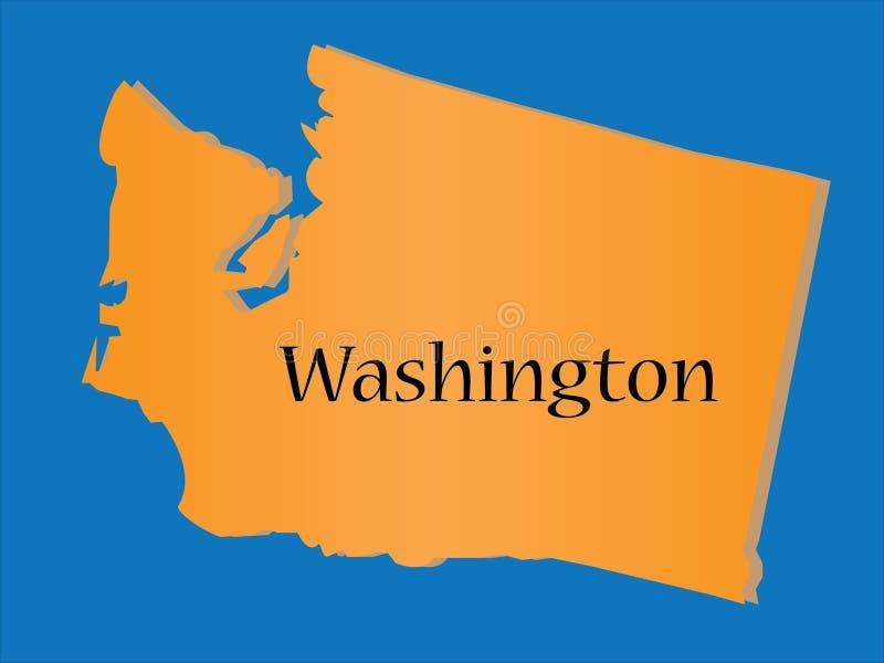 stan Washington royalty ilustracja