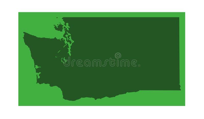 Stan Washington mapa - stan Waszyngton ilustracja wektor