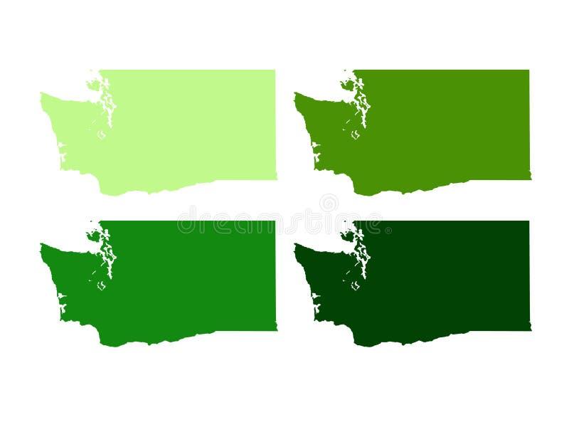 Stan Washington mapa - stan Waszyngton ilustracji