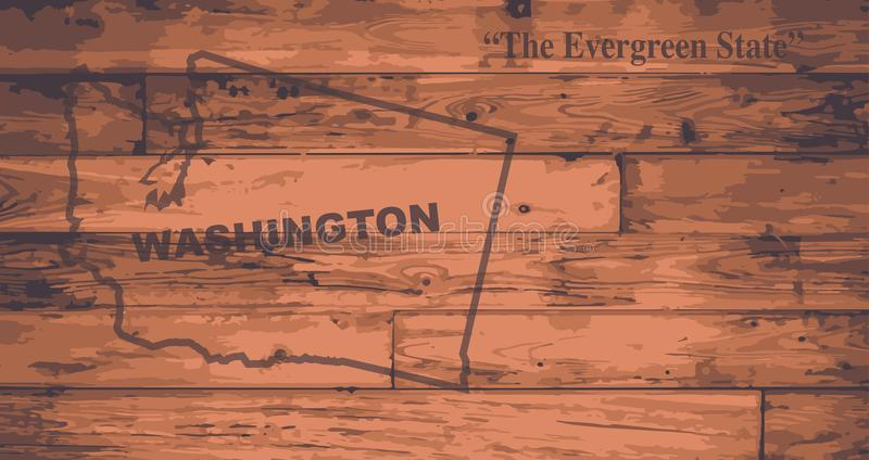 Stan Washington mapy gatunek ilustracja wektor