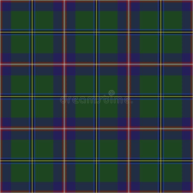 Stan Washington tartan Bezszwowy wzór dla tkaniny, kilts, spódnicy, szkockie kraty Częsty, mały tkactwo, royalty ilustracja