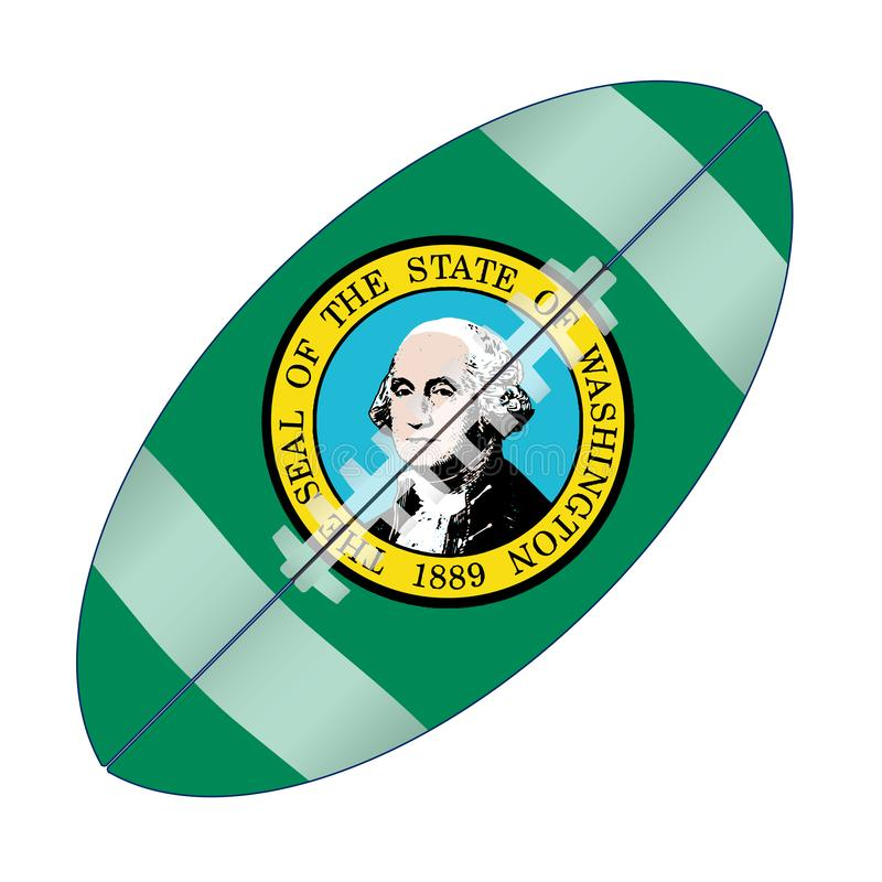 Stan Washington usa futbolu flaga ilustracja wektor