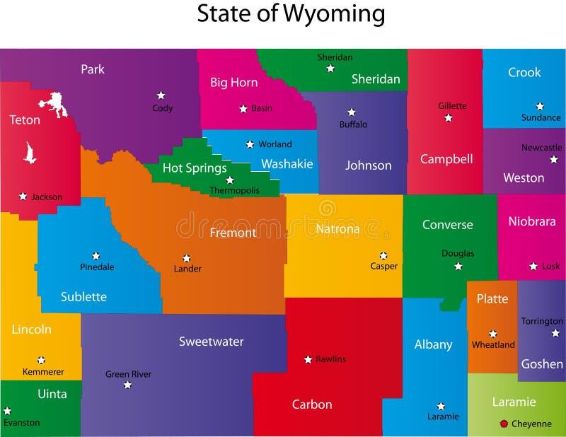 Stan Wyoming royalty ilustracja